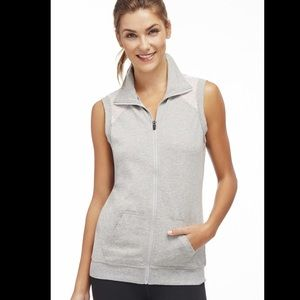 Fabletics Grey Temecula Zip Up Sleeveless Vest